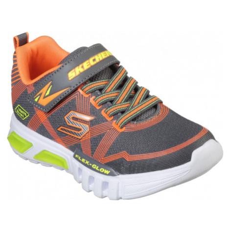 Skechers S-LIGHTS: FLEX-GLOW tmavě šedá - Chlapecké blikající tenisky