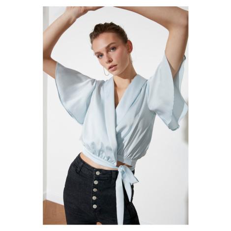 Trendyol Blue Binding Detailed Blouse