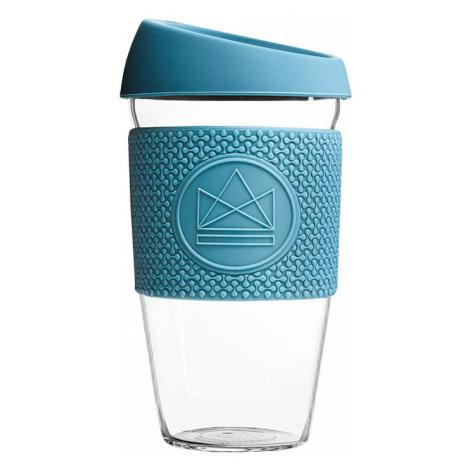 Skleněný hrnek na kávu, M, 450 ml, Neon Kactus, modrý, GC1605