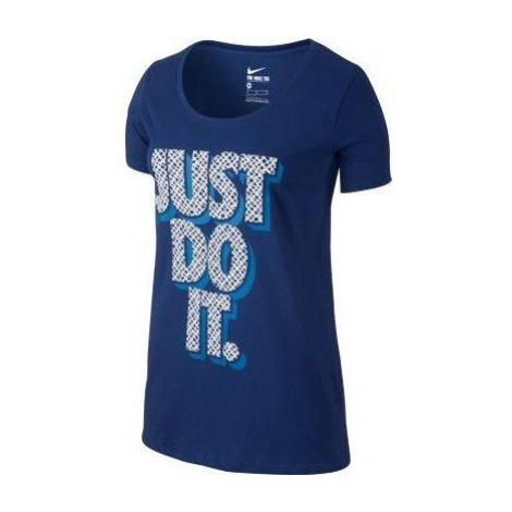 Dámské tričko Nike Tee Just Do It Modrá / Bílá