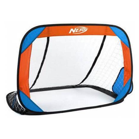 Spokey HASBRO BUCKLER Samorozkládací fotbalová branka 2 ks, zn. NERF modro-oranžová