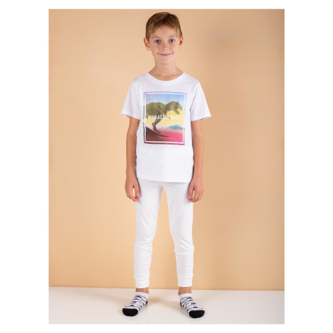 Chlapecké termoaktivní ecru kalhoty