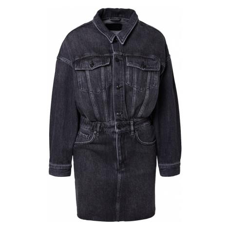 AllSaints Košilové šaty 'Dakota' černá džínovina