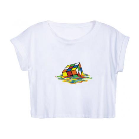 Dámské tričko Organic Crop Top Melting rubiks cube
