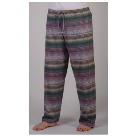 Dámské pyžamové kalhoty Vienetta Secret Olga mocca   vzorované