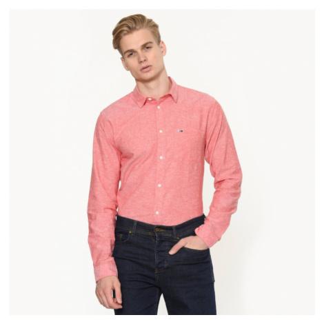 Tommy Hilfiger pánská červená melírovaná košile