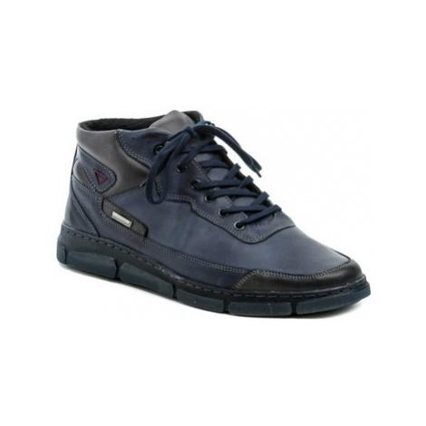Mateos 924 modrá pánská zimní obuv Modrá