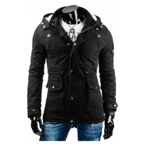 Pánská prošívaná zimní bunda s odnímatelnou kapucí - / - DSTREET