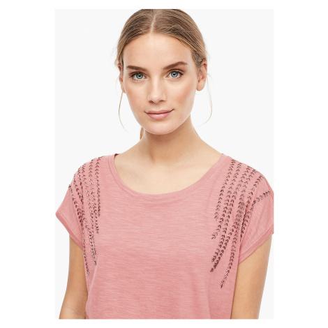 s.Oliver dámské tričko s ozdobnými kamínky 14.911.32.4258/37D0