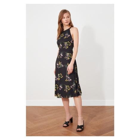 Trendyol Black Ruffle Halter Neck Dress