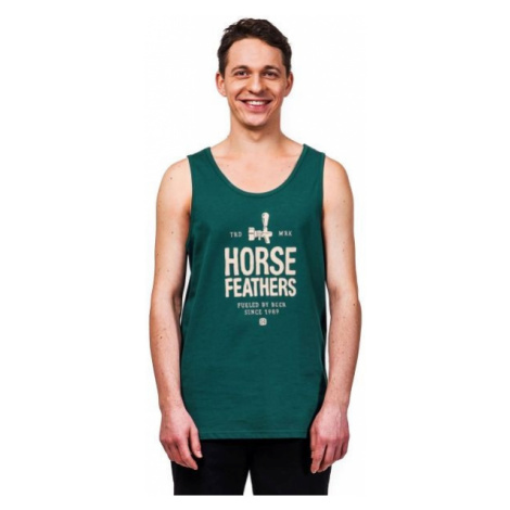 Horsefeathers SPIGOT TANK tmavě zelená - Pánské tílko