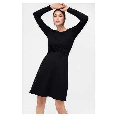 Viskózové šaty s áčkovou sukní Orsay