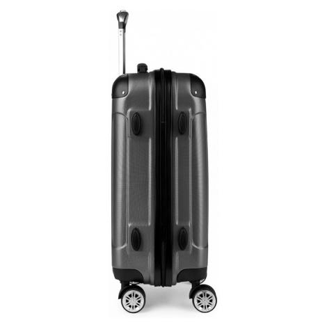 Šedý cestovní kvalitní prostorný střední kufr Amol Lulu Bags