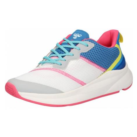 Hummel Sportovní boty 'Reach LX 600' bílá / královská modrá / pink / žlutá