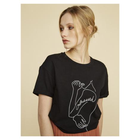 ZOOT černé dámské tričko Susane s potiskem