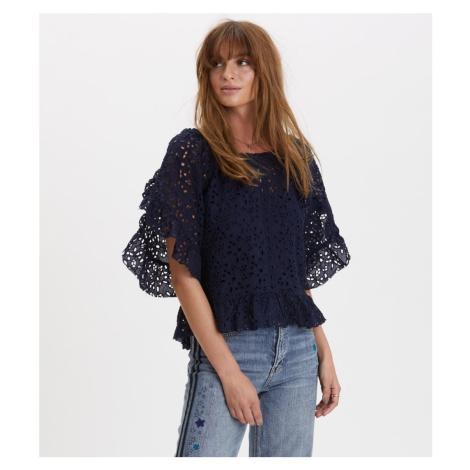 Košile Odd Molly Wing Vibes Blouse - Modrá