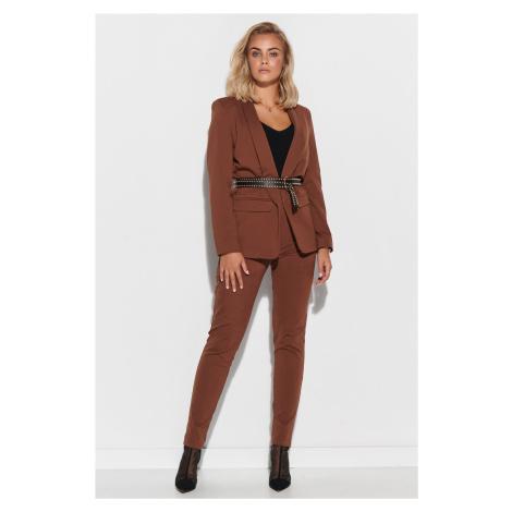 Elegantní dámský oblek sako + kalhoty Makadamia