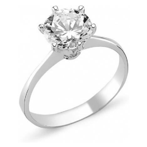 OLIVIE Stříbrný prstense zirkonem 1363
