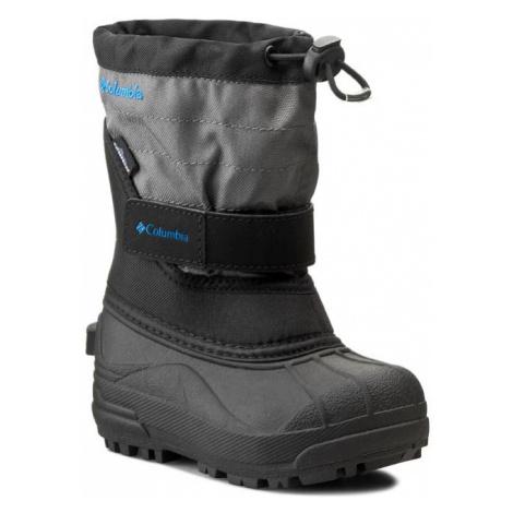 Sněhule COLUMBIA - Childrens Powderbug Plus II BC1326 Black/Hyper Blue 010
