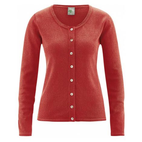 Dámský propínací svetr s konopím