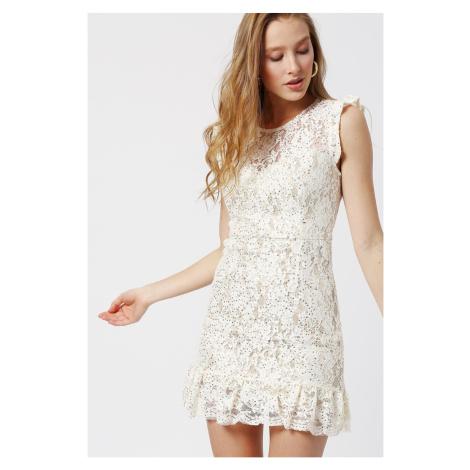 Koton Lace Detailed Dress Evening Dress