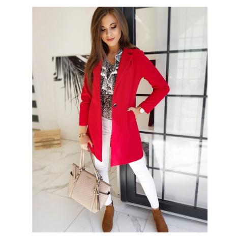 Dámský červený kabát (NY0371) BASIC