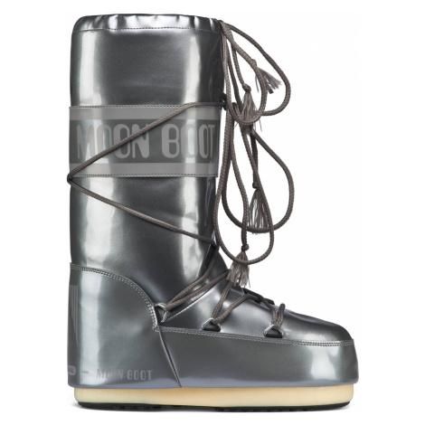 Moon Boot stříbrné zimní boty Vinil Met Silver