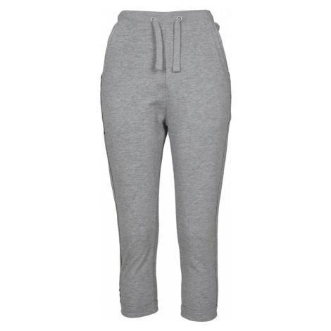 Ladies Open Edge Terry Turn Up Pants - grey Urban Classics
