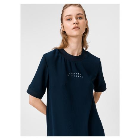 Šaty Armani Exchange Modrá
