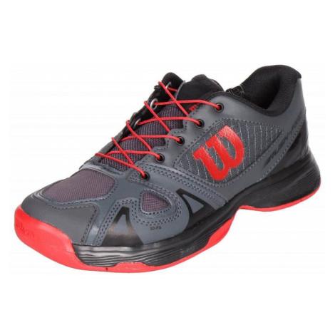 Rush Pro JR QL 2019 juniorská tenisová obuv barva: modrá;velikost (obuv / ponožky): UK 3,5 Wilson