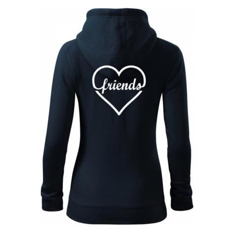 Friends (párové triko) - Dámská mikina trendy zippeer s kapucí