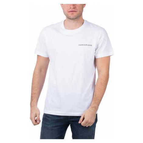 Calvin Klein Calvin Klein pánské bílé tričko BACK MONOGRAM SS T-SHIRT