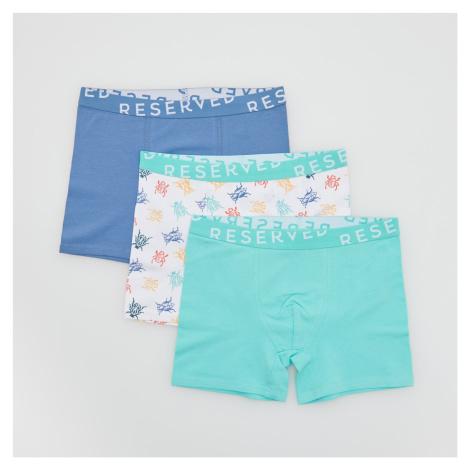 Reserved - Sada 3 kusů boxerek s vysokým podílem bavlny - Modrá