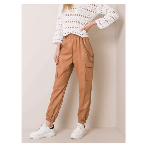 Velbloudí kalhoty z umělé kůže FPrice