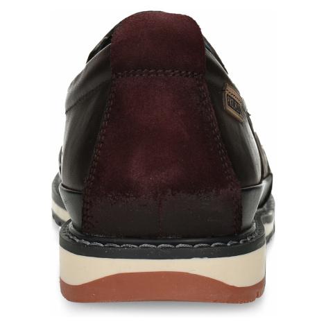Pánská kožená slip-on obuv hnědá Pikolinos