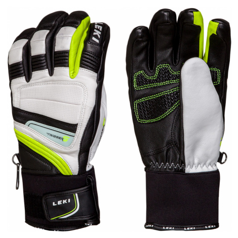 Lyžařské rukavice Leki GRIFFIN PRIME S bílá|černá