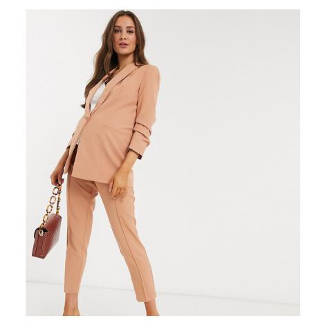 ASOS DESIGN Maternity mix & match cigarette suit trousers-Pink