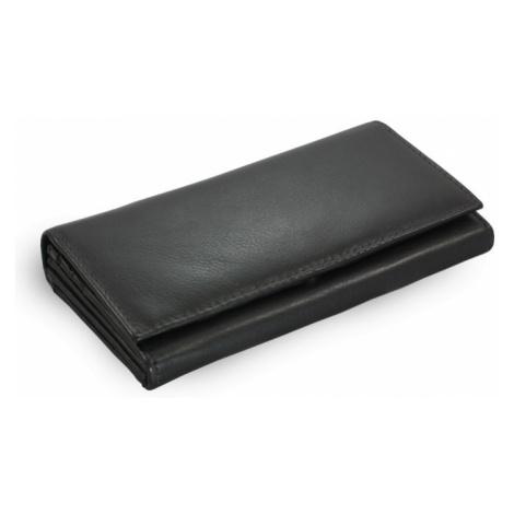Černá dámská psaníčková kožená peněženka Esmel Arwel
