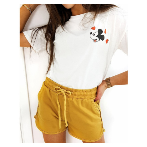 SEVILLA women's shorts yellow SY0163 DStreet