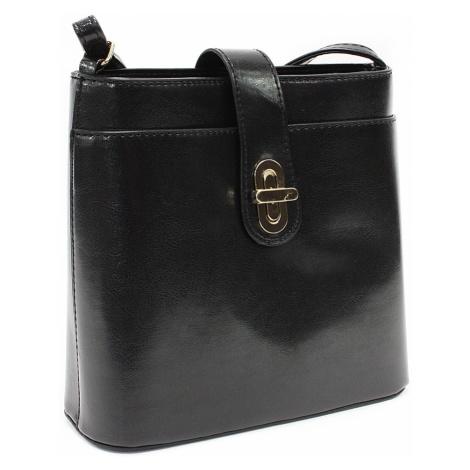 Černá malá crossbody dámská kabelka s klopnou Villette Mahel