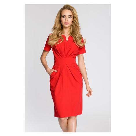 Červené šaty MOE 234