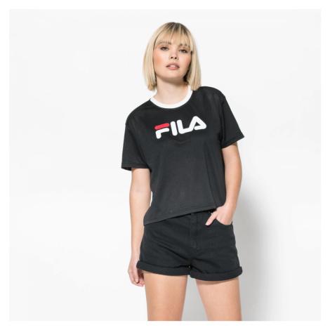 Černé tričko Michelle Cropped Mesh Fila