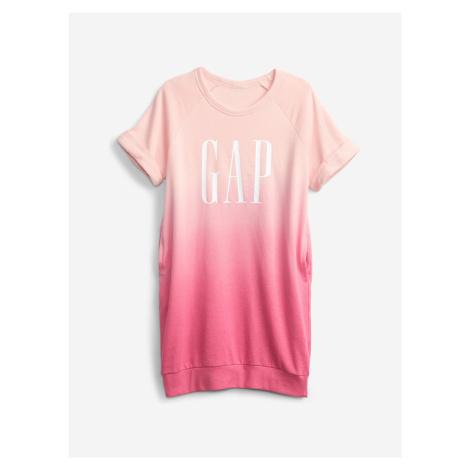 Logo Šaty dětské GAP Růžová