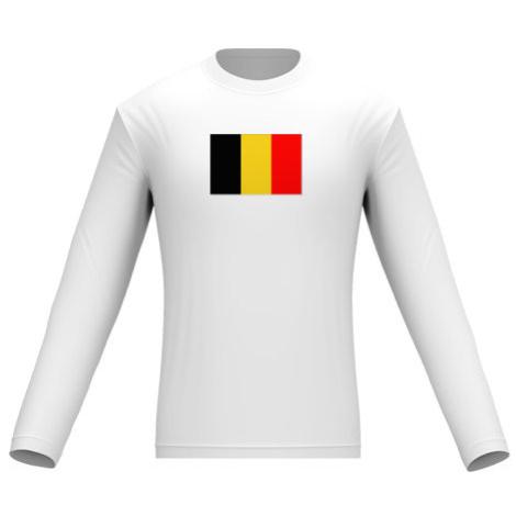 Pánské tričko dlouhý rukáv Belgie