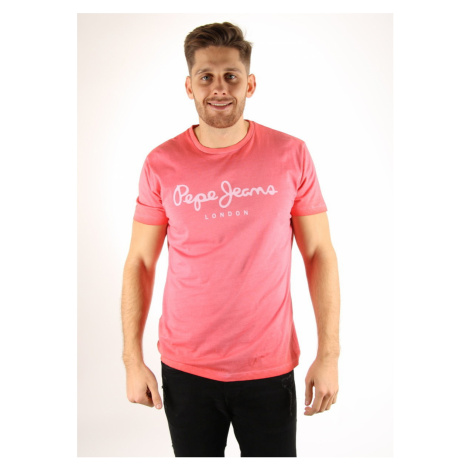 Pepe Jeans pánské růžové tričko West