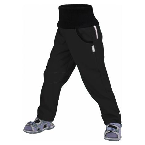 Dětské softshellové kalhoty UNUO Street bez zateplení, Černá