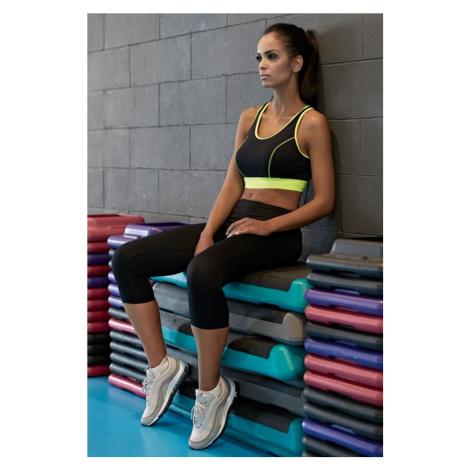 Fitness funkční 3/4 legíny Gabi černé Lorin