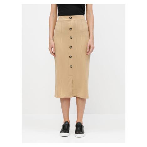 Tally Weijl béžové pouzdrová sukně