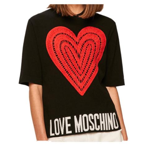 Černé tričko LOVE MOSCHINO