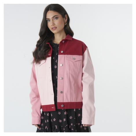 Čeveno-růžová oversized bunda NA-KD